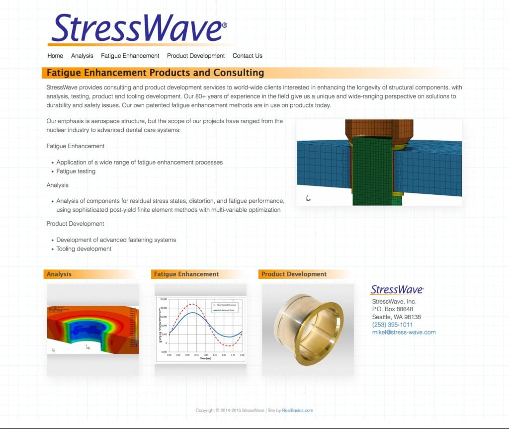 Link to stress-wave.com website