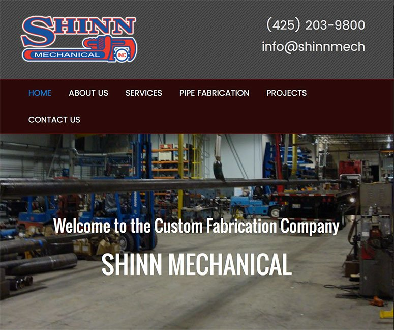 Shinn Mechanical - site recreation