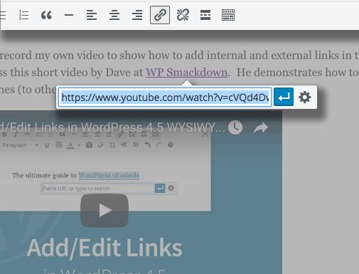 New link editing tools in Wordpress 4.5